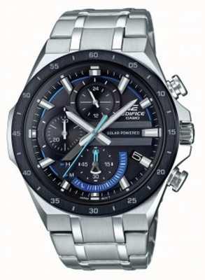 Casio | gmach | chronograf energii słonecznej | czarno-niebieska tarcza | EQS-920DB-1BVUEF