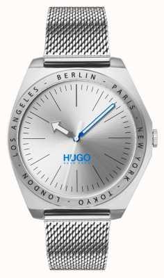 HUGO #act | siatka ze stali nierdzewnej | srebrna tarcza 1530107