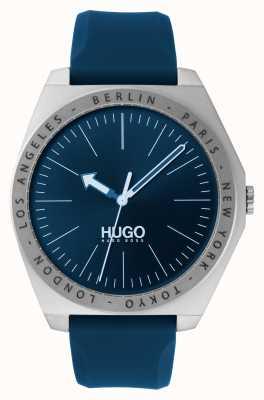HUGO #act | niebieski gumowy pasek | niebieska tarcza 1530105