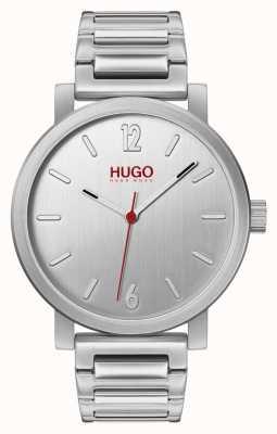 HUGO # zdanie | bransoleta ze stali nierdzewnej | srebrna tarcza 1530117