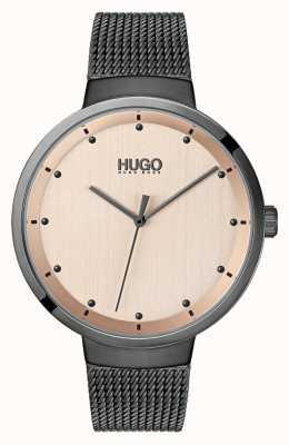 HUGO #go | szara siatka ip | tarcza z różowego złota 1540003