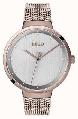 HUGO #go | siatka ip w kolorze różowego złota | szara tarcza 1540004