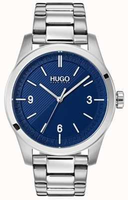 HUGO #create | bransoleta ze stali nierdzewnej | niebieska tarcza 1530015
