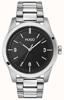 HUGO #create | bransoleta ze stali nierdzewnej | czarna tarcza 1530016