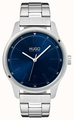 HUGO # wyzwanie | bransoleta ze stali nierdzewnej | niebieska tarcza 1530020