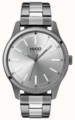 HUGO # wyzwanie | bransoleta ze stali nierdzewnej | srebrna tarcza 1530021