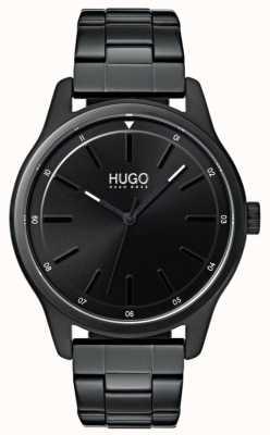 HUGO # wyzwanie | czarna bransoletka ip | czarna tarcza 1530040