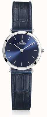 Michel Herbelin | kobiety | epsilon | niebieski skórzany pasek | niebieska tarcza | 17106/15BL