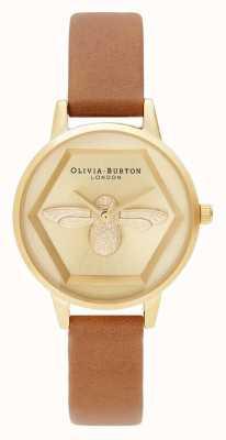 Olivia Burton | 3d zegarek charytatywny pszczół | wegański pasek miodu | OB16AM167