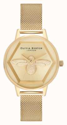 Olivia Burton | 3d zegarek charytatywny pszczół | bransoletka z żółtego złota | OB16AM169