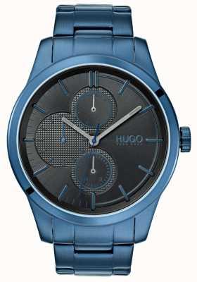 HUGO #discover | niebieska bransoletka ip | czarna tarcza | 1530086