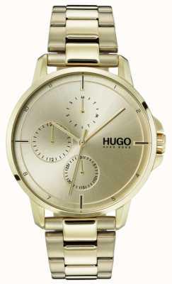 HUGO #focus | złota bransoletka ip | złota tarcza 1530026