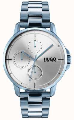 HUGO #focus | niebieska bransoletka ip | srebrna tarcza 1530051