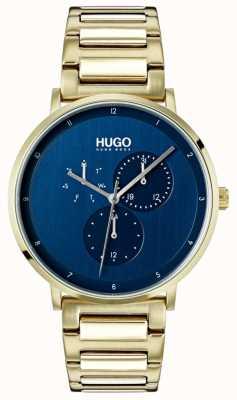 HUGO #guide | złota bransoletka ip | niebieska tarcza 1530011