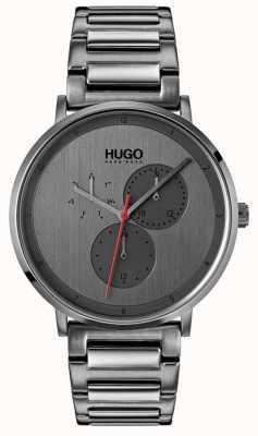 HUGO #guide | szara bransoletka ip | szara tarcza 1530012