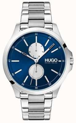 HUGO #jump | bransoleta ze stali nierdzewnej | niebieska tarcza 1530004