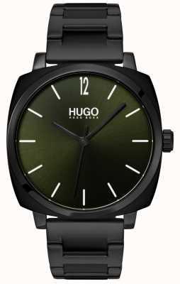 HUGO #own | czarna bransoletka ip | czarna tarcza 1530081