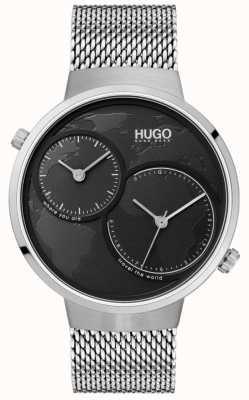HUGO #travel | siatka ze stali nierdzewnej | czarna tarcza 1530055