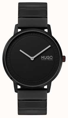 HUGO #echo | czarna bransoletka ip | czarna tarcza 1520020