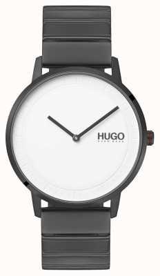 HUGO #echo | szara bransoletka ip | biała tarcza 1520022
