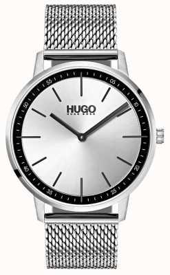 HUGO #exist | siatka ze stali nierdzewnej | srebrna tarcza 1520010