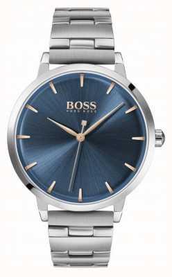 BOSS | przystań dla kobiet | bransoleta ze stali nierdzewnej | niebieska tarcza | 1502501