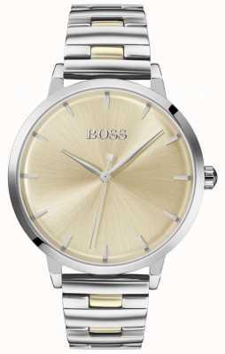 BOSS | przystań dla kobiet | bransoleta ze stali nierdzewnej | złota tarcza | 1502500