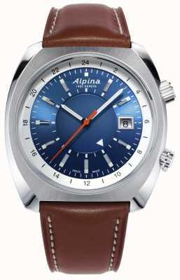 Alpina | dziedzictwo pilotażowe startimer | automatyczny | brązowa skóra | AL-555LNS4H6
