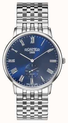 Roamer | męska galaktyka | bransoleta ze stali nierdzewnej | niebieska tarcza | 620710-41-45-50