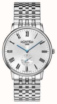 Roamer | elementy męskie | srebrna bransoleta ze stali nierdzewnej czarna tarcza | 650810-41-55-50