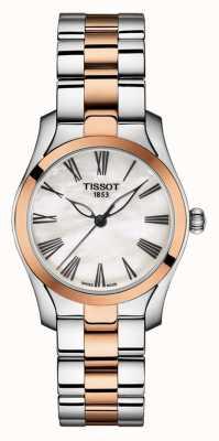 Tissot | t-wave | dwukolorowa bransoletka damska | tarcza z masy perłowej | T1122102211301