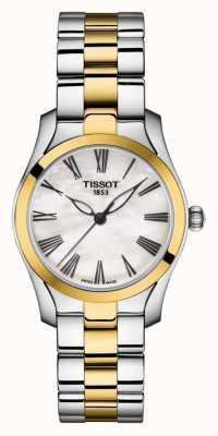 Tissot | t-wave | dwukolorowa bransoletka damska | tarcza z masy perłowej | T1122102211300