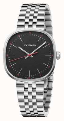 Calvin Klein | męskie | wprost | bransoleta ze stali nierdzewnej | czarna tarcza | K9Q12131