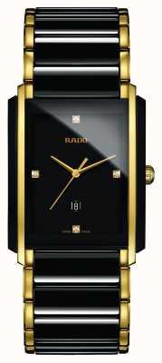 RADO Zintegrowany diamentowy zaawansowany technologicznie ceramiczny czarny kwadratowy zegarek z tarczą R20204712