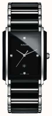 RADO Zintegrowany diamentowy zaawansowany technologicznie ceramiczny czarny kwadratowy zegarek z tarczą R20206712