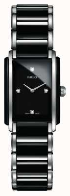 RADO Zintegrowany diamentowy, zaawansowany technologicznie ceramiczny zegarek z kwadratową tarczą R20613712