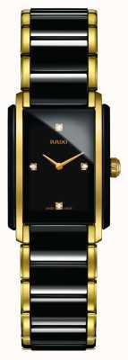 Rado Zintegrowany diamentowy, zaawansowany technologicznie ceramiczny zegarek z kwadratową tarczą R20845712