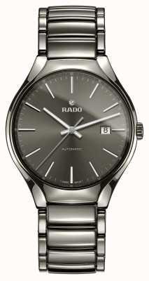 RADO Prawdziwy automatyczny plazmowy, zaawansowany technologicznie ceramiczny szary zegarek z tarczą R27057102