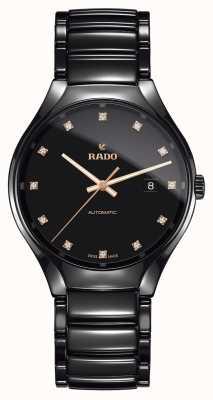Rado Prawdziwy automatyczny zegarek ceramiczny z technologią plazmy z diamentami R27056732