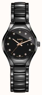 RADO Najnowocześniejszy ceramiczny czarny zegarek z prawdziwą diamentową plazmą R27059732