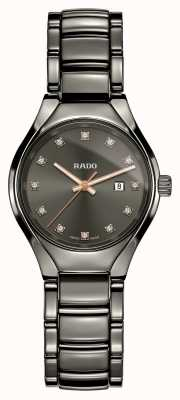 RADO Najnowocześniejszy ceramiczny szary zegarek z prawdziwą diamentową plazmą R27060732