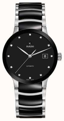 RADO Czarny ceramiczny zegarek Centrix z automatycznym diamentem R30941752