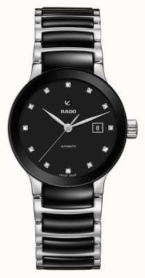 RADO Automatyczny zegarek ceramiczny z diamentami Centrix R30009752