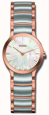 Rado Dwukolorowy perłowy zegarek ze stali nierdzewnej Centrix R30186923