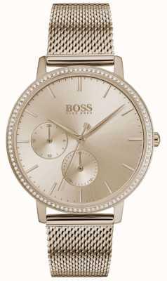 BOSS | nieskończoność kobiet | różowe złoto | tarcza słoneczna w kolorze różowego złota 1502519