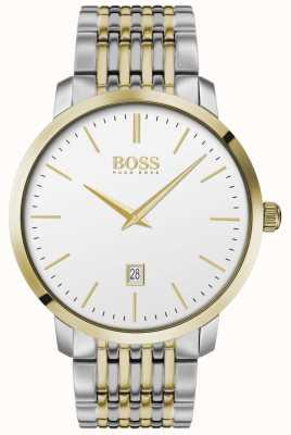 BOSS | męskie | klasyka premium | dwukolorowy | srebrna tarcza | 1513747