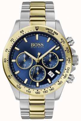 BOSS | męski bohater sportu lux | dwukolorowa bransoletka | niebieska tarcza | 1513767