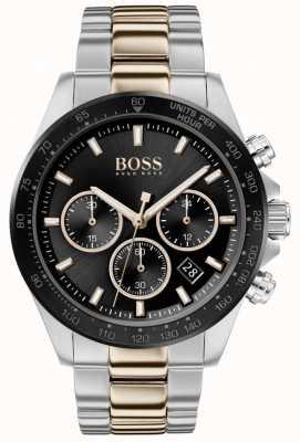 BOSS | męskie | hero sport lux | dwukolorowa bransoletka | czarna tarcza | 1513757