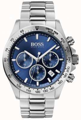 BOSS | męski hero sport lux | stalowa bransoletka | niebieska tarcza | 1513755