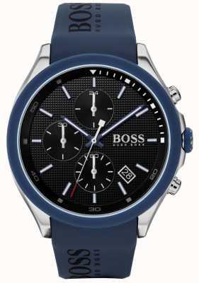 Boss | prędkość mężczyzn | niebieski gumowy pasek | czarna tarcza | 1513717